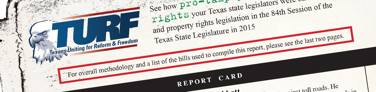 TURF releases 2015 Report Card for 84th Legislature